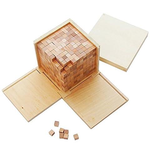 Montessori Math Materials Volume Box with 1000 Cubes (Volume Cubes)