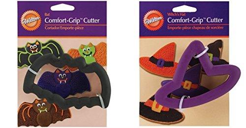 Wilton Comfort Grip Halloween Cookie Cutter Set Witch and Bat (Easy Halloween Cookies)