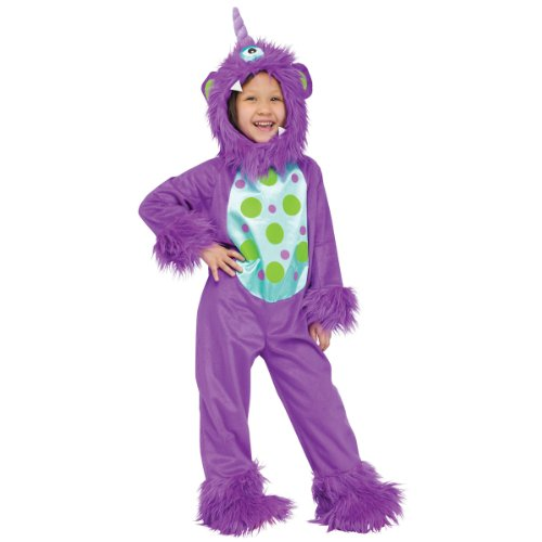 Fun World Costumes Baby's Li'L Monster Toddler Costume, Purple, One Size -