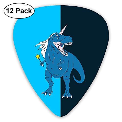 SEGTAR Funny One-Horned Dino Guitar Picks Custom ABS Plectrum Music Plucked Instruments Accessories Thin Medium Heavy Guitars Bass Best Stocking 0.46/0.71/0.96mm (12pack)