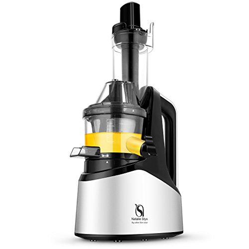 Natalie Styx Juicer Slow Masticating Juicer Extractor, Cold Press Juicer Machine with 3