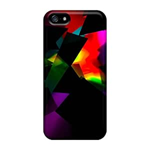 5/5s Scratch-proof Protection Case Cover For Iphone/ Hot Abstract Color Phone Case