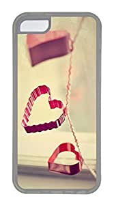 iPhone 5C Case, Customized Protective Soft TPU Clear Case for iphone 5C - Red Love Cover