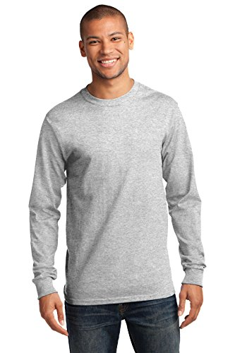 - Port & Company Men's Tall Long Sleeve Essential T Shirt XLT Ash