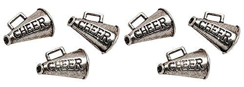 Metal Charms: Silver Cheer 8/Pkg (2 Pack)