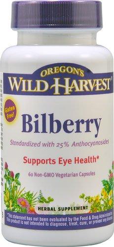 Oregon's Wild Harvest Bilberry - 60 Non-GMO Vegetarian Capsules - 2pc