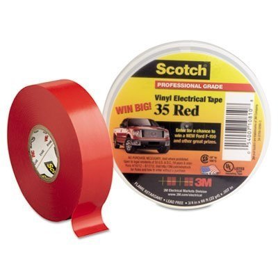 Hardware Store 3M Scotch 10810-35 Vinyl Electric Tape, 0 to 105 Degree C, 1250 V/mil Dielectric Strength, 66' Length x 3/4