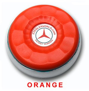 ZieglerWorld Table Large Shuffleboard Weights - 4 Pucks - Orange Colors + Booklet by Zieglerworld