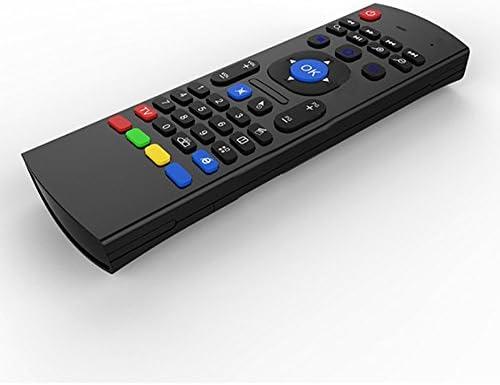 Teclado retroiluminado del ratón del aire Kodi Remote MX3 Pro, 2.4Ghz Mini Wireless Android Control de TV y micrófono infrarrojo de aprendizaje para ...