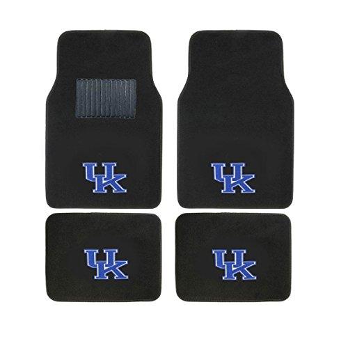 Collegiate KENTUCKY New Carpet Type Floor Mat Liner. Wow! Kentucky Logo On All 4 Mats