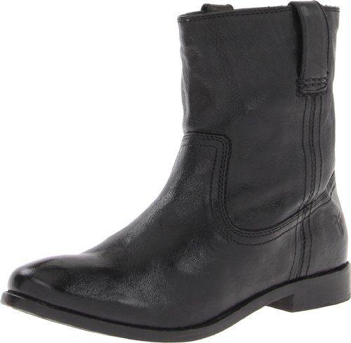 FRYE Women's Anna Shortie Bootie, Black, 7 M US