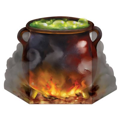 Halloween Cauldron Drinks (Witch's Cauldron Stand-Up Party Accessory (1 count))