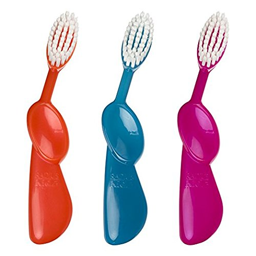 RADIUS - Kidz Right Hand, Supersized Brush Head with Kid-Friendly Soft Bristles, For 6 Years and Older (Pack of 3)