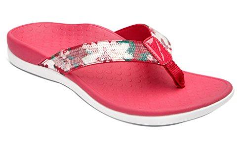 Vionic Womens Tide Sequins Toepost Sandal Pink Floral Size - Womens Floral Sandals