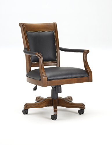 Hillsdale Furniture Kingston Square Game Chair, Black