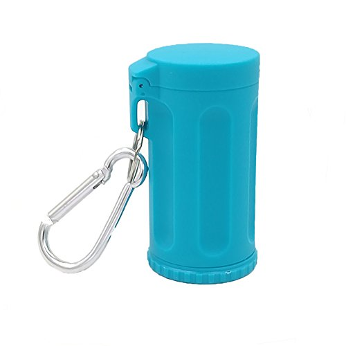 Honoro Portable Ashtray with Lid for Outdoor,ABS Smokeless Windproof Cigarettes Ashtray with Keychain,Blue