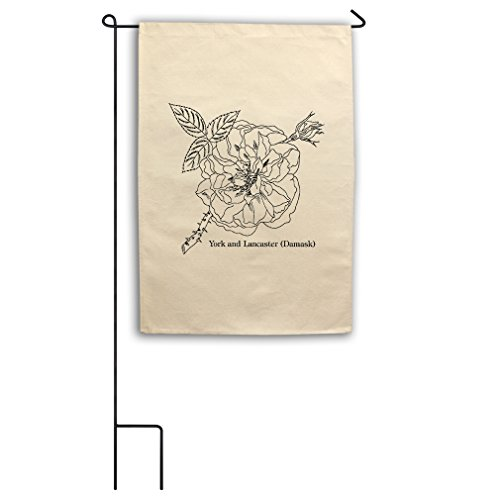 """Color Your York Lancaster Color-In Draw Canvas Yard House Garden Flag 18""""x27"""" Flag Only"""