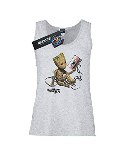 Tank Tape Groot Sport Guardians Marvel Femme Top Of Gris Galaxy The Rww0qzF