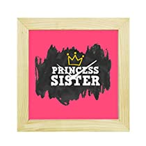 YaYa Cafe 8x8 inches Rakhi Gifts for Sister Wall Clock Prin