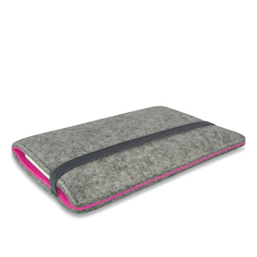 Stilbag Etui Feutre 'FINN' pour Apple iPhone 6s - Couleur: gris/rose