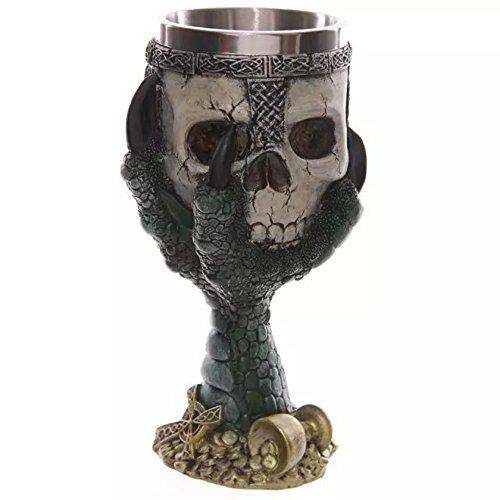 ISEYMI Skull Cups Goblet and Stainless Steel Inner Tank Halloween Gifts Party Barware Personalized Creative