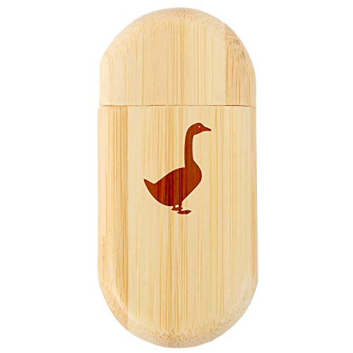 Goose 8Gb Bamboo USB Flash Drive with Rounded Corners - Wood Flash Drive with Laser Engraving - 8Gb USB Gift for All Occasions