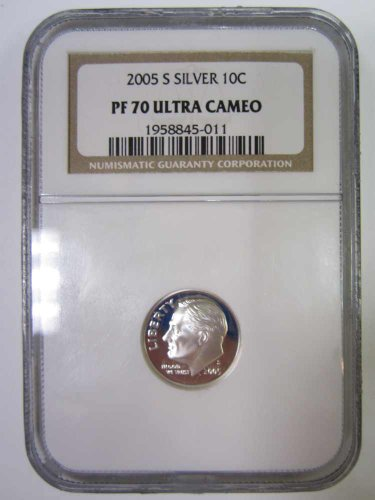 (2003 S Silver Proof Roosevelt Dime PF70 Ultra Cameo Graded by NGC)