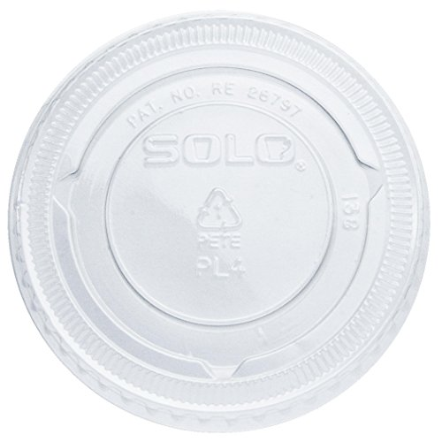 SOLO SCCPL1 Plastic Lid for Souffle Portion Cup, Clear (Case of 5,000)