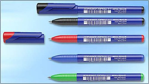 Topball 811 Blue Refillable Rollerball Pens-2 Pack