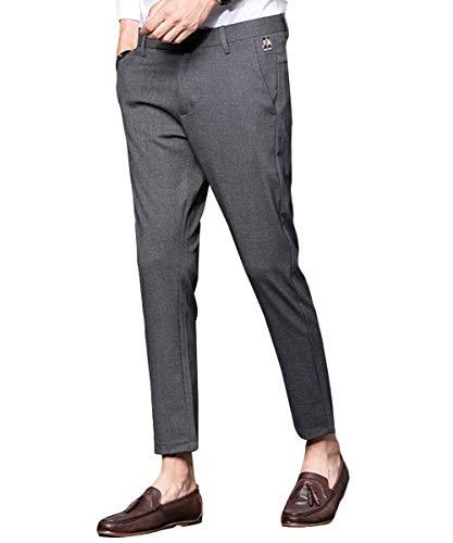 Uomo Grau Tempo Estivi Moda Per Comodi Hulday Lavoro Semplice Corti Pantaloni Libero Da Stile Il Alla PpSnwqEZx