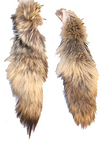1 Piece Real Coyote Fur Fox Tail ()