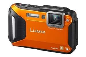 "Panasonic DMC-FT5EG-D - Cámara compacta de 16 Mp (pantalla de 3"", objetivo(s) 28-128mm f/5.9 milímetros, estabilizador de imagen, WiFi, GPS), naranja"