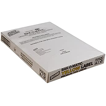 """Dixie 27S Yellow-Label Parchment Pan Liner, 16.38"""" Length x 24.38"""" Width, White (Case of 1,000)"""