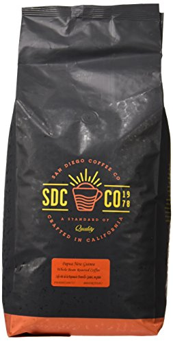 Amazon Lightning Deal 75% claimed: San Diego Coffee Papua New Guinea Whole Bean Roasted Coffee 80 oz