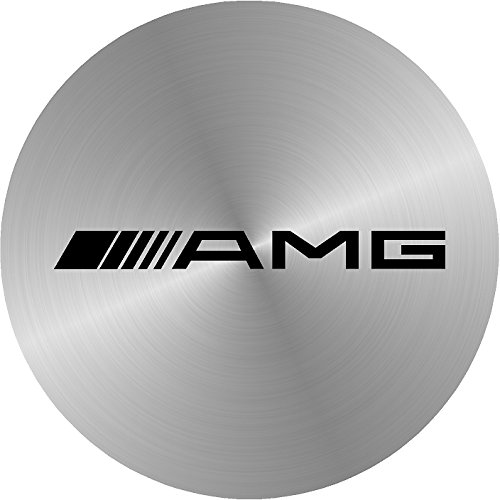 AMG Mercedes-benz Simulated Brused Metal Replacement Decal Sticker 6 Piece Set (60mm)