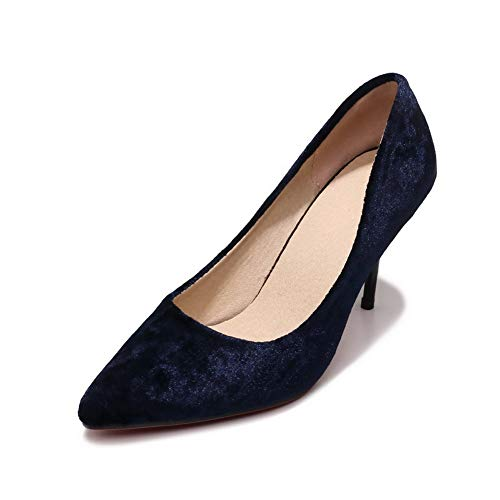 AdeeSu Bleu Compensées Sandales SDC05514 Femme wrzqvFw