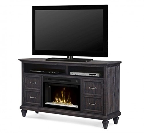 Cheap DIMPLEX Electric Fireplace TV Stand Media Console Space Heater and Entertainment Center with Glass Ember Bed Set in Weathered Grey Finish - Soloman #GDS25GD-1594WG Black Friday & Cyber Monday 2019