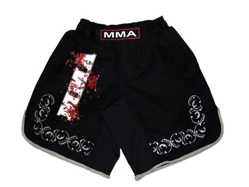 MMA Board Shorts in Soft FabricブラックサイズM MMAロゴ B003L7L15C