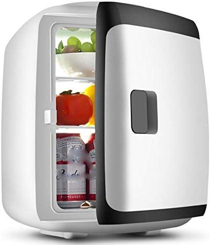 カー用品冷蔵庫ポータブル,暖かく冷たい機能軽量省エネ小型コンパクト冷蔵庫ミニ冷凍庫12V 220V-車載旅行事務所寮アウトドアキャンプ,Black White