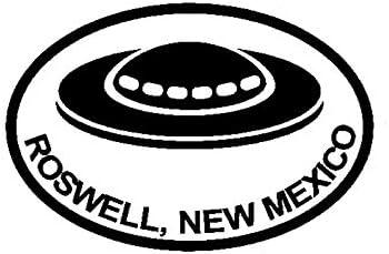 バンパーガラスステッカー UFOのエイリアンの卵形のカーステッカービニールは13.5CMX9.1CMデカール (Color : Black)