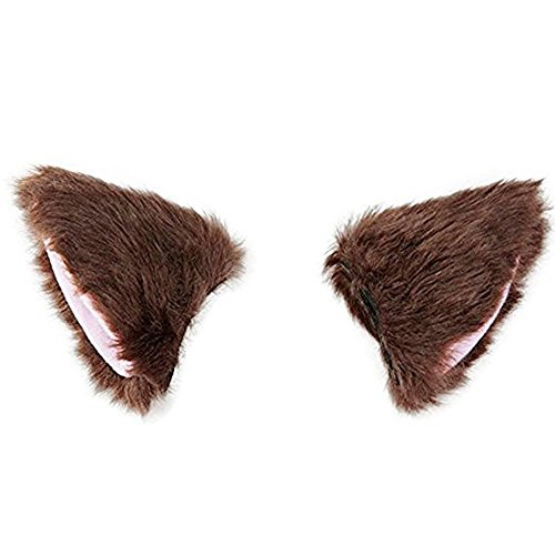 Price comparison product image Hilary Ella 1 Pair Soft Cute Cat Ear Hair Clip Ears Cosplay Hairpin Faux Fur Barrette Fancy Dress Headwear