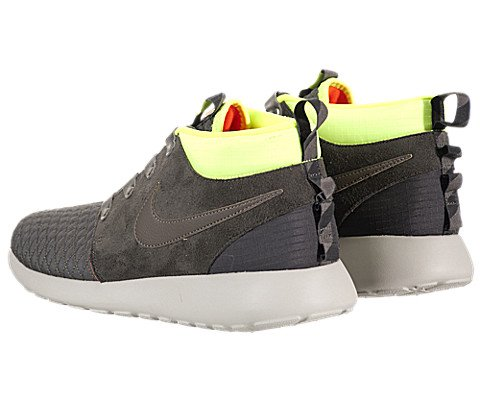 2ed7645f381a5 Nike Men s Roshe Run Sneakerboot Newsprint Smoke Volt Ttl Crmsn Running  Shoe 13 Men US