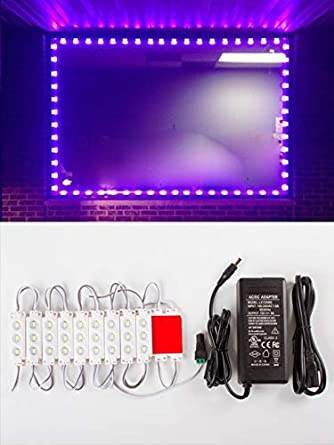 20ft Storefront super bright Purple LED Light module 5630 with UL 12v 3  Amps AC Power