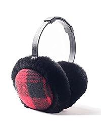 YOMOSI Women Gilrs Winter Warm Eaemuffs Thickened Adjustable Plush Ear Warmer (black)