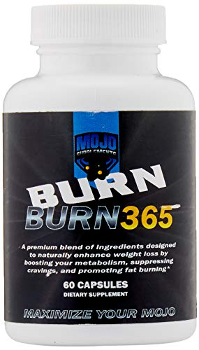 Burn 365 – Powerful Natural Fat Burner – Plateau Weight Loss Aid – Increase Your Metabolism for Rapid Weight Loss – Appetite Suppressant for Men and Women, Guaranteed Results – 60ct