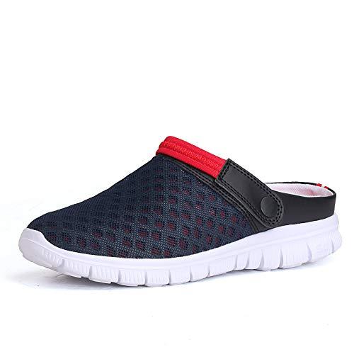 JiaMeng Zapatos de Uniforme Zapatillas Casual Hombres Sandalia de Verano de Malla Transpirable Acolchada Playa Chanclas Zapatos: Amazon.es: Ropa y ...