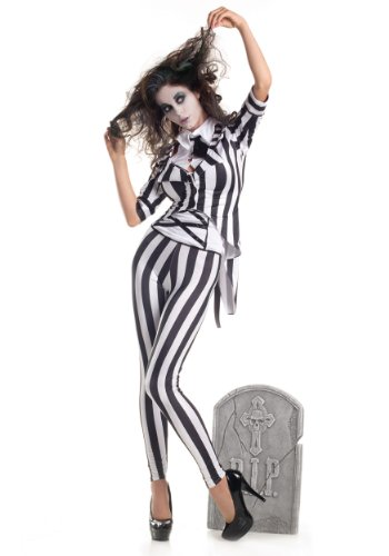 Graveyard Ghost Costume - X-Large - Dress Size (Beetle Juice Costume)