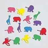 Jungle Animals Felt Confetti 24 Per Pack