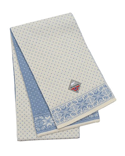 - Norlender 100% Norwegian Wool Dot Print Scarf (White)
