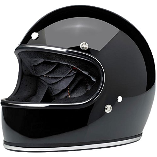 Biltwell unisex-adult full-face-helmet-style Bonanza Helmet (Black, Large) (Gloss Midnight Black Miniflake Large) by Biltwell